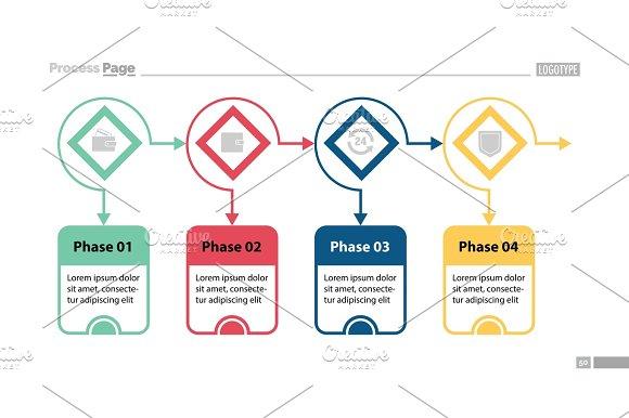Four Options Process Chart Slide Template