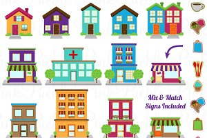 Town, City, Village Clipart & Vector