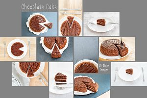 Sliced tasty chocolate cake