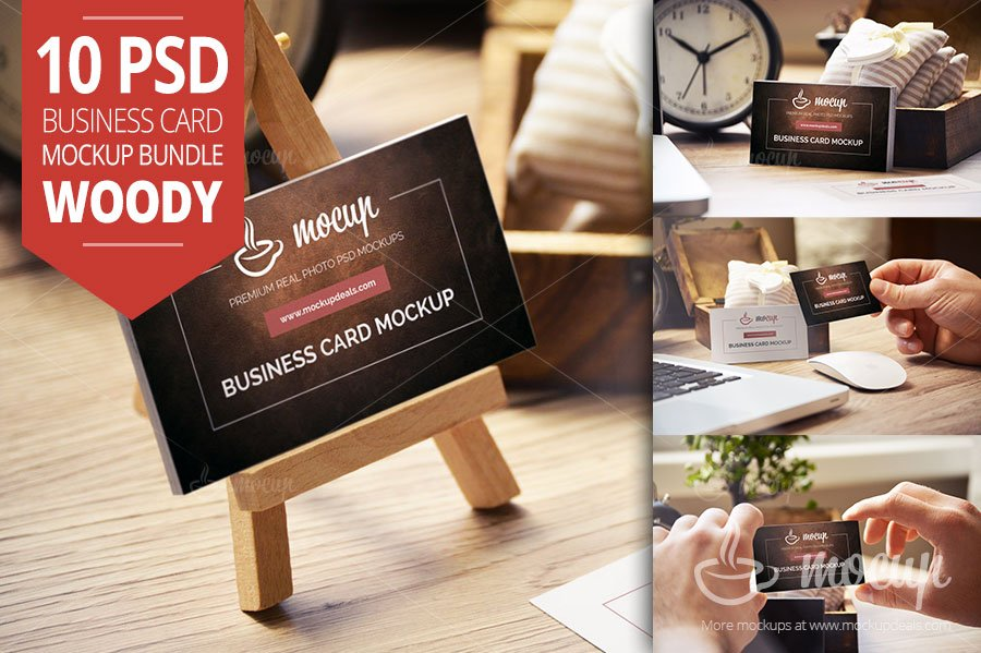 10 PSD Business Card Mockups W1 ~ Product Mockups ~ Creative Market