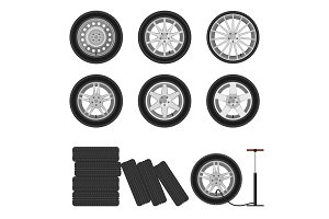 Auto wheels set.