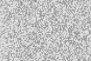 Horizontal black and white computer text symbols texture