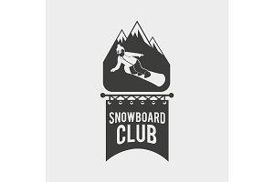 Snowboard club logo