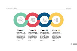 Four Phases Process Slide Template
