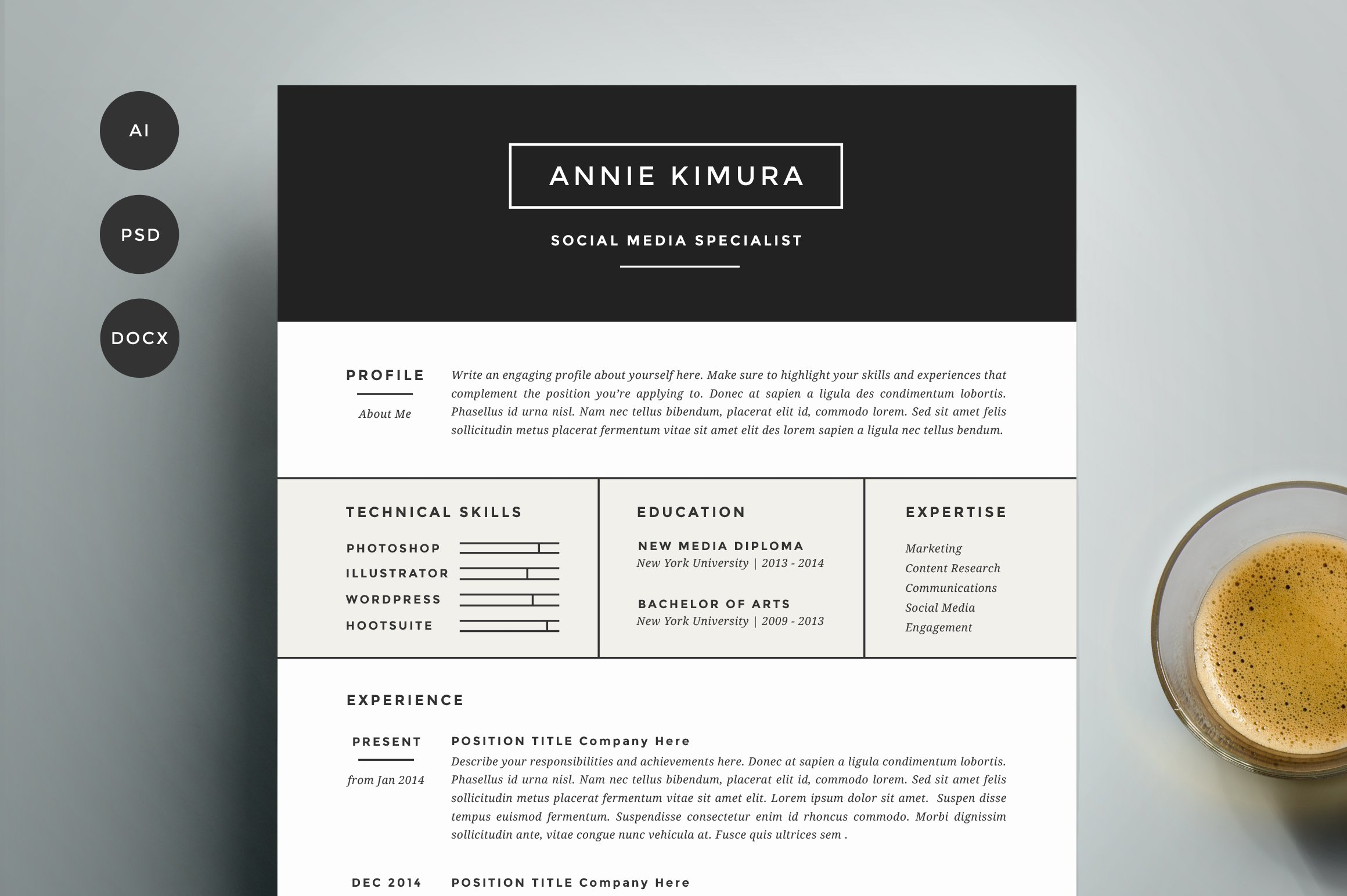 Outside Sales Rep Resume Resume Template  Pack  Cv Template  Resume Templates  Creative  Inventory Resume Pdf with Resume Paper Walmart Pdf Resume Template  Pack  Cv Template  Resume Templates  Creative Market Sample Resume For Secretary