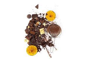 Pile of broken chocolate