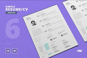 Simple Resume/Cv Template Volume 6