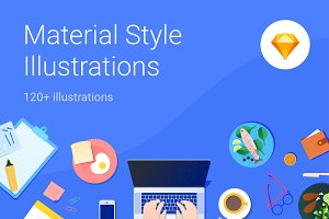 Material Style Illustration kit