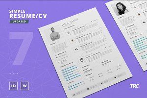 Simple Resume/Cv Template Volume 7