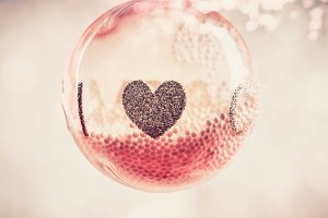Christmas bauble with heart