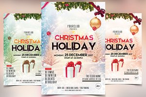 Christmas and Holidays - PSD Flyer