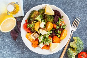salad of baked vegetables