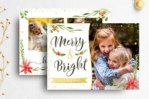 Christmas Card Photographer Template