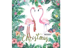 Christmas Watercolor Card