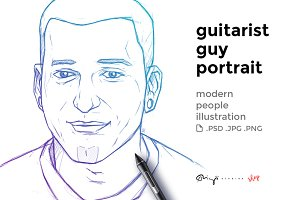 Guitarist guy portrait
