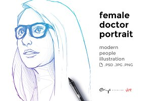 Female doctor portrait