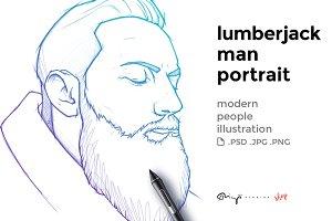 Lumberjack man
