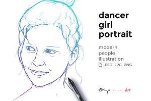 Dancer girl portrait