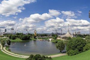 Olympiapark Munich Germany Panorama