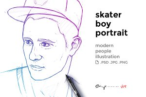 Skater boy portrait