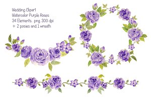 Wedding Purple Rose Collection