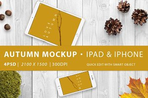 Mockup · Autumn ipad & iphone