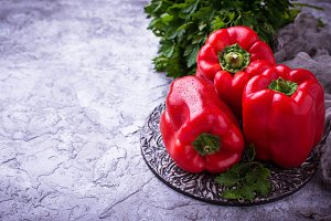 Fresh ripe  bulgarian pepper
