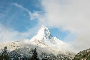 Cloudy Matterhorn