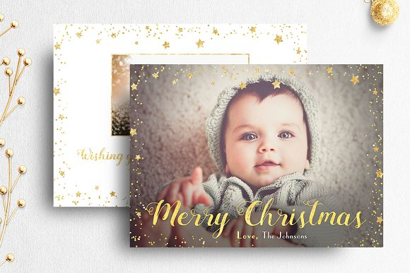 Christmas card template photoshop card templates creative market maxwellsz