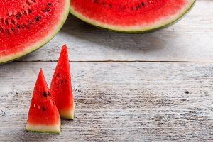 Sweet watermelon slices