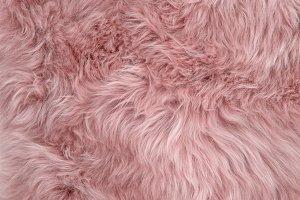 Pink sheepskin rug sheep fur