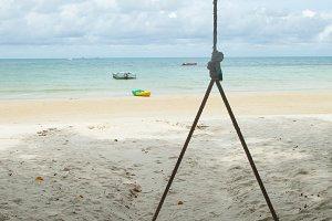 Swing on the beach.