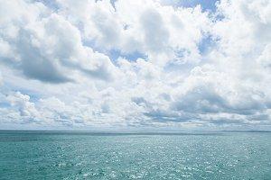 Sea and sky.