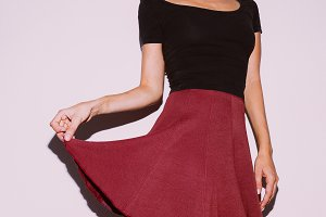 Cute Vintage Outfit Women's Skirt