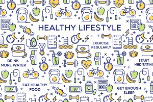 Healthy Lifestyle Illustration