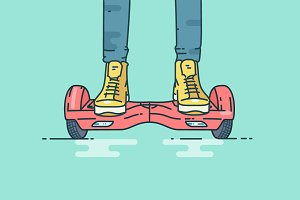 Person riding a Hoverboard