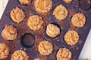 Pumpkin spice mini muffins baking da