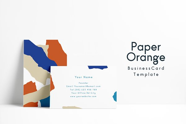 Paper Orange Font and Template