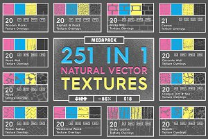 251 Natural Vector Textures Megapack