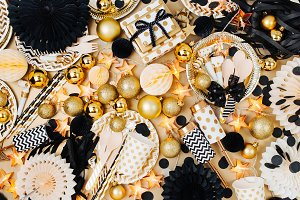 Golden & black Christmas decoration
