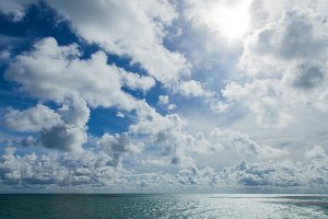 ocean cloud and sky.