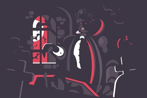 Dracula cartoon character
