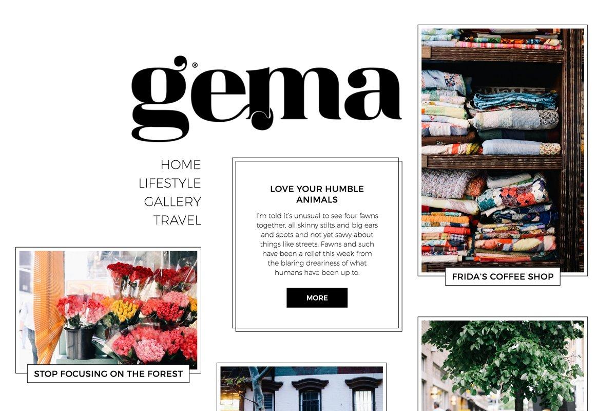 GEMA - Personal Blogging Theme ~ WordPress Magazine Themes