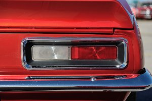 American muscle car detail