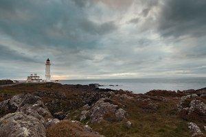 The lighthouse near coast of nord sea