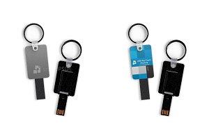 USB Stick Keyring Mockup