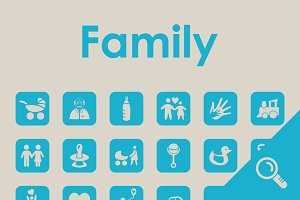 30 FAMILY simple icons
