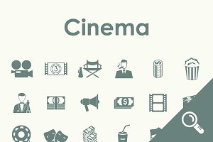 30 CINEMA simple icons