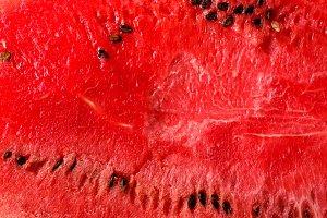 Texture of fresh ripe watermelon. Macro close up, top view