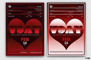 Valentines Day Flyer Template V11